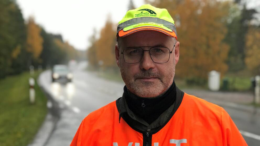 Robert Ålrud i orange reflexväst
