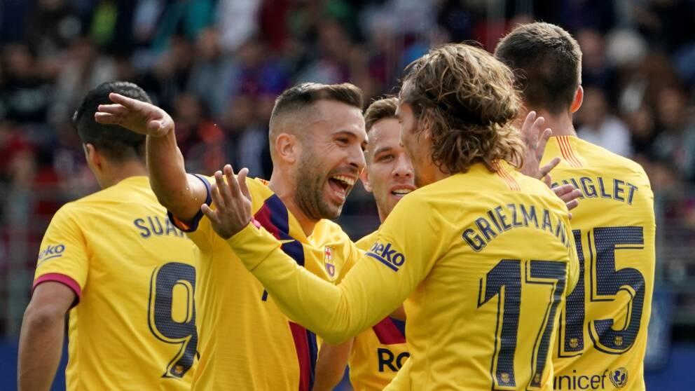 Barcelona jublar efter mål mot Eibar.