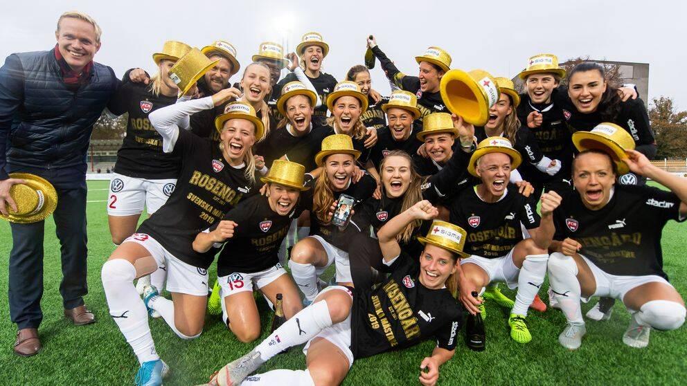 Rosengård firar SM-guldet.