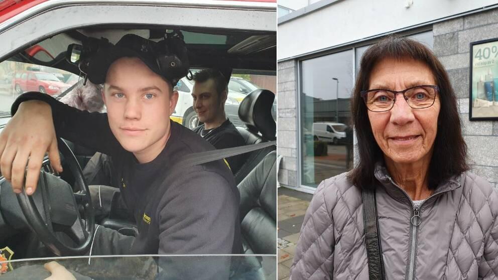 Hugo Magnusson och Annie Andersson är två av de Vaggerydsbor som använder bilen.