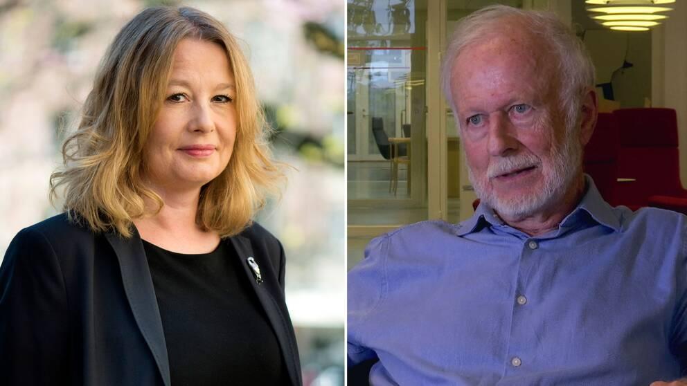Aftonbladets tidigare kulturchef Åsa Linderborg och litteraturvetaren Tomas Forser.