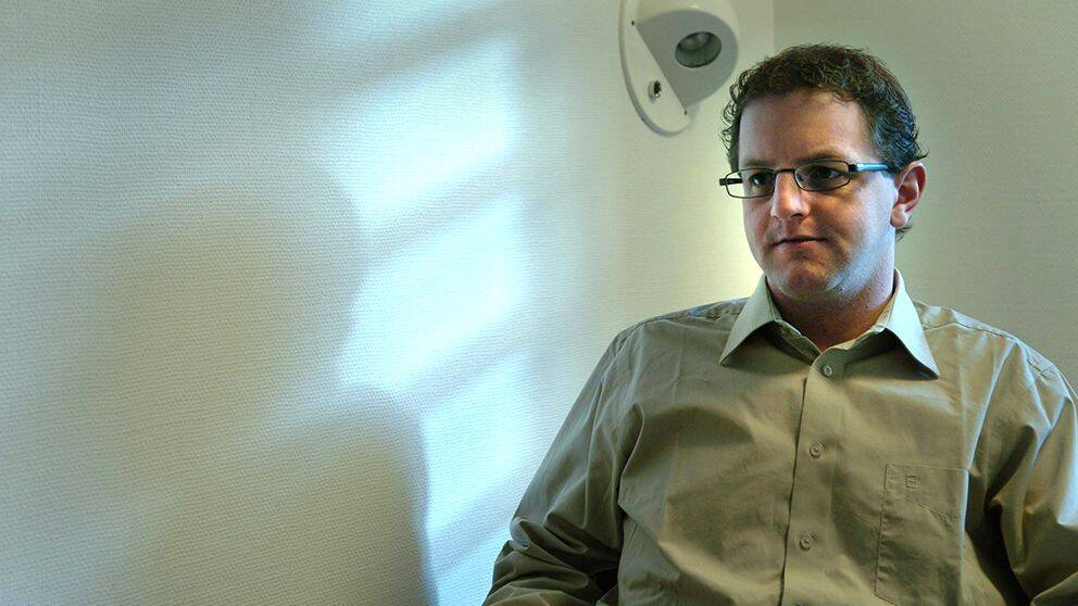 Helge Fossmo efter domen 2004.