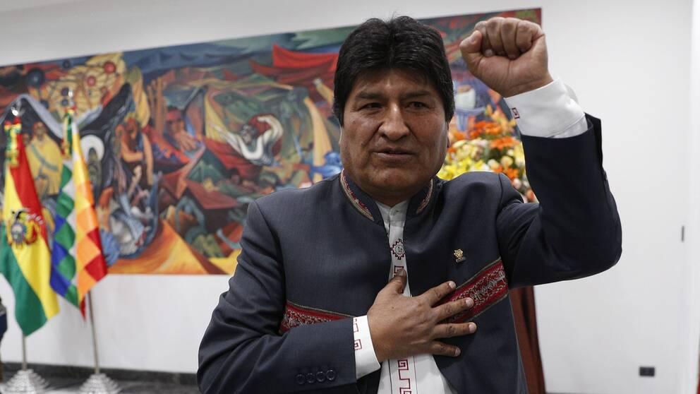 Bolivias president Evo Morales