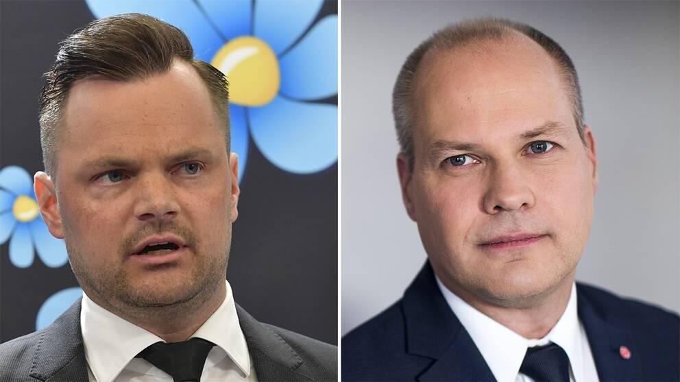 Adam Marttinen (SD) och Morgan Johansson (S).