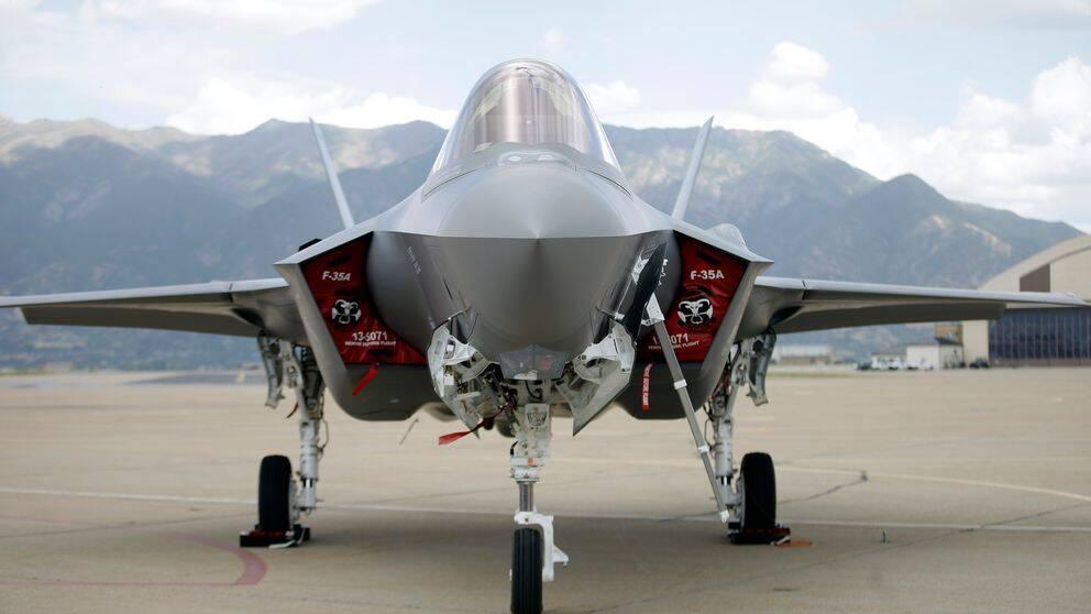 Amerikanskt F-35 stridsflygplan på Hill flygbas i Utah.