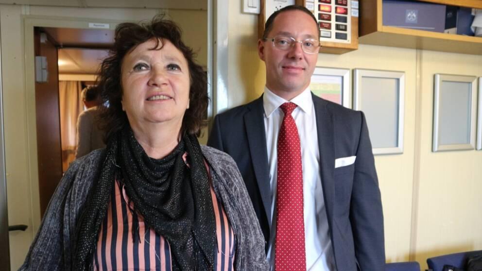 politiker från Karlskrona ombord på båt