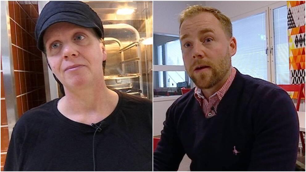 Porträttbilder på kocken Kicki Zetterdahl och viltköttsproducenten Oskar Danielsson.