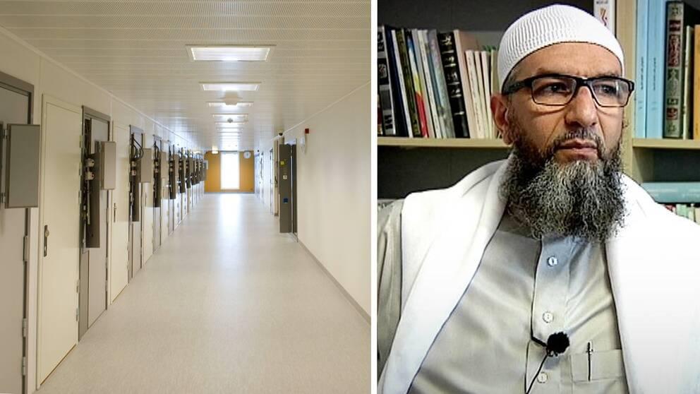 Bild på Kriminalvården och den terrormisstänkte imamen Abo Raad