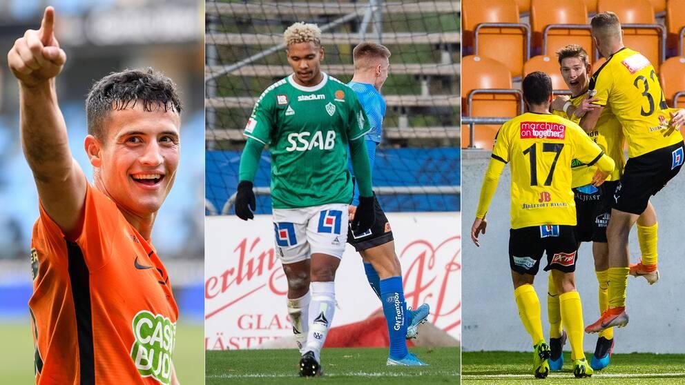 Seth Kanteh Hellbergs Brage tappade poäng mot Halmstad, till glädje för Varberg och Mjällby.