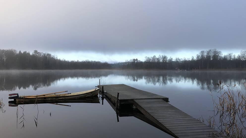 En fridfull morgon i Limmared, Västergötland.