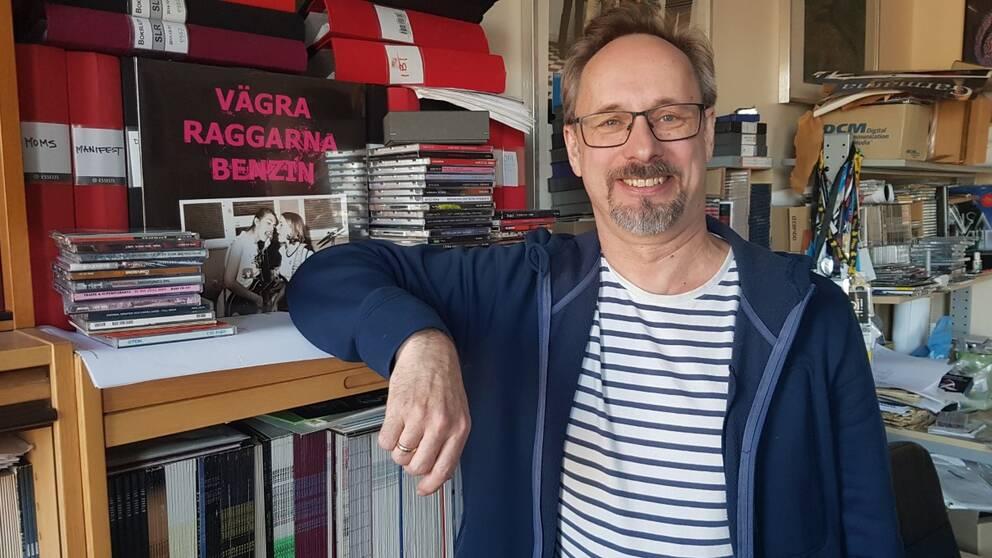 Mats Hammerman, 40 år som frontfigur för skivbolaget Massproduktion i Sundsvall.
