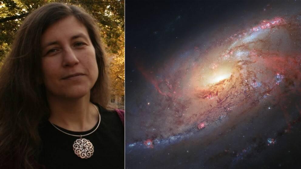 """""""De fiktiva skildringar av mörk materia som jag tycker bäst om är de som ligger längst i från vad forskningen egentligen sysslar med"""", säger vetenskapsjournalisten och fysikern Anna Davour till Kulturnyheterna."""