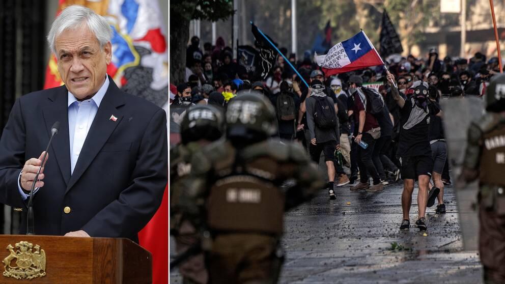 Chile ställer in klimatmötet i december, det säger landets president Sebastian Piñera.