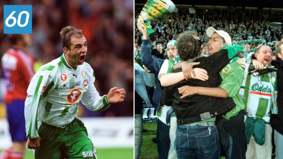 Se när Hammarby för första gången vann SM-guld 2001.