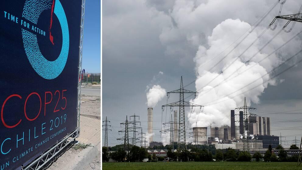 Klimatmötet COP25 flyttas från Santiago