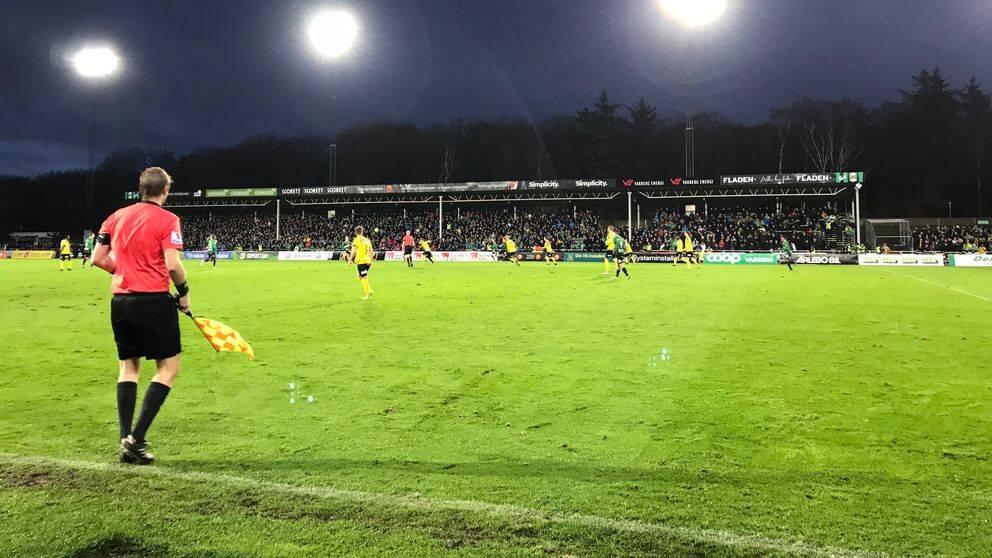 Varbergs BoIS är klara för allsvenskan efter matchen mot Mjällby AIF på Påskbergsvallen.