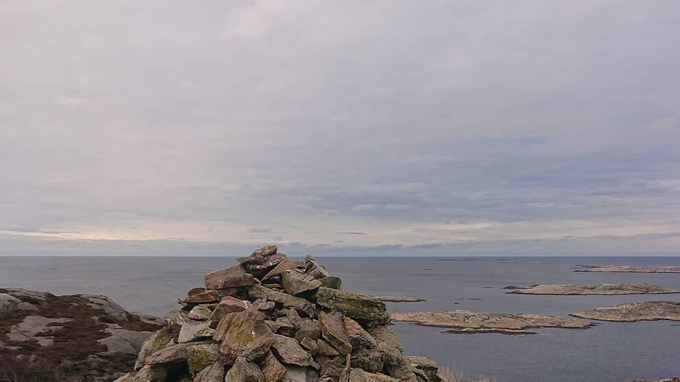 Röset vid Islandsberg på Skaftö i Bohuslän måndag förmiddag.