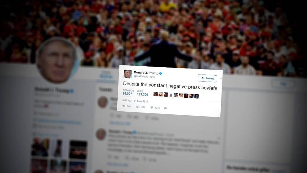 Skärmdump från Twitter och kontot @realdonaldtrump