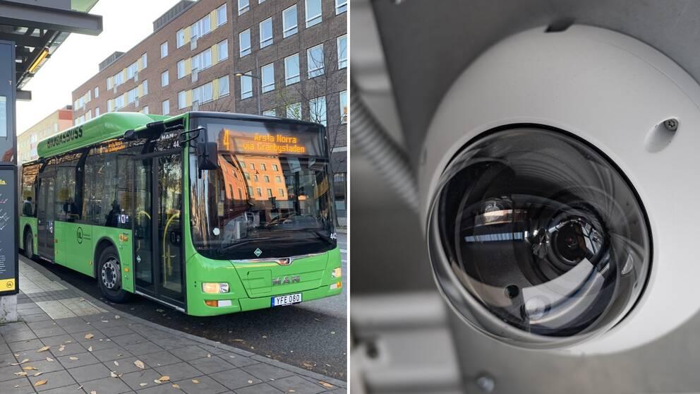 Misshandeln på bussen ska ha fångats av en övervakningskamera.