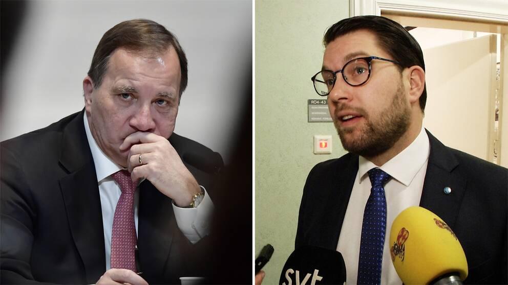 Stefan Löfven och Jimmie Åkesson.