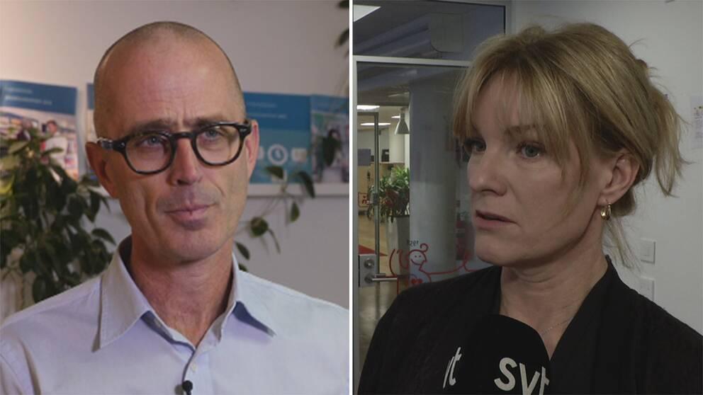 Johan Wallér och Kristina Sparreljung.