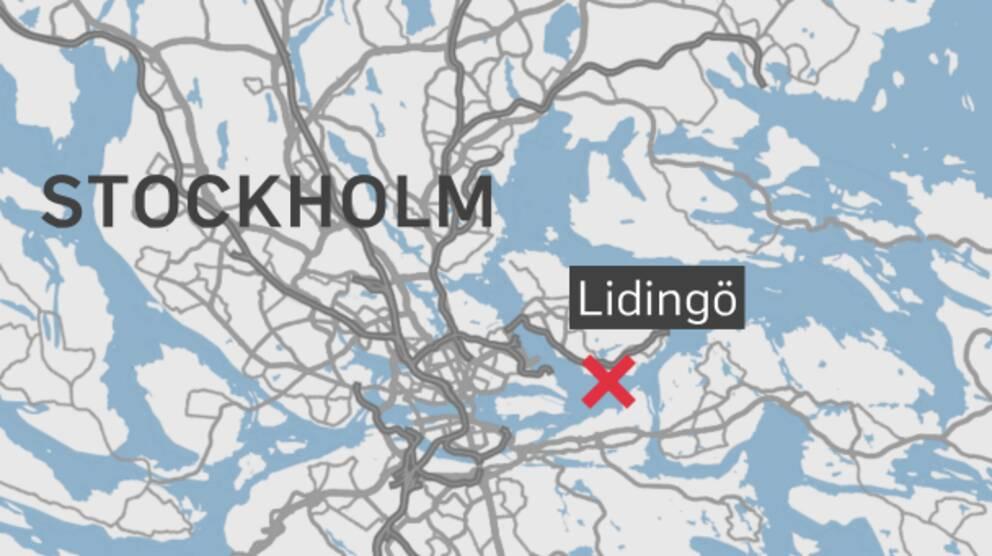 Färjan ska ha gått på grund utanför Lidingö