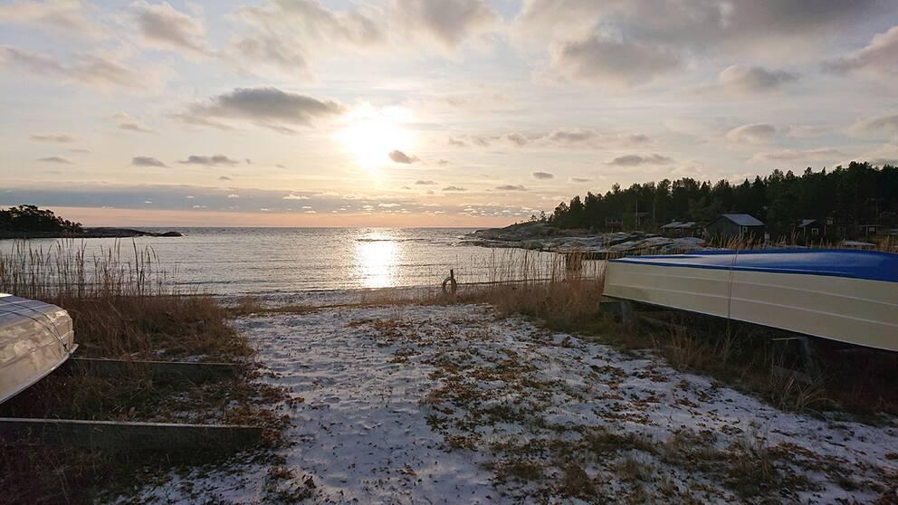 Fiskeläget Sjöviken på Härnön Härnösands kommun Ångermanland.