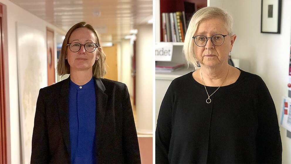 Bilder på Sara Wettergren (L), skolkommunalråd i Malmö och Marie Wall Almquist, ordförande Lärarförbundet Malmö.
