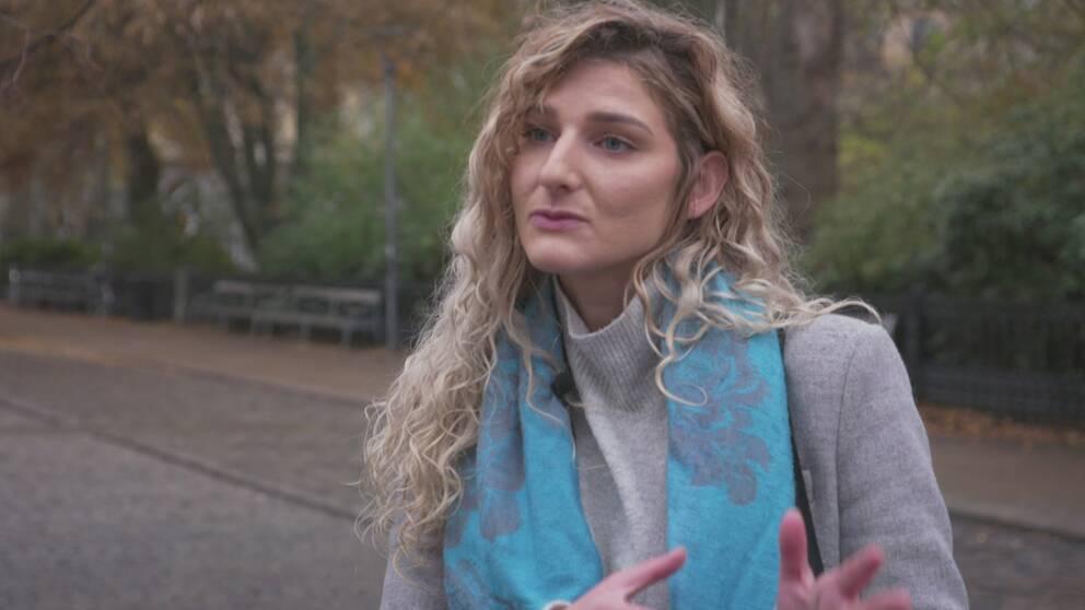 Teufika Sabanovic, talesperson och organisatör för manifestationen som planeras i Stockholm i samband med Nobelprisutdelningen i december.