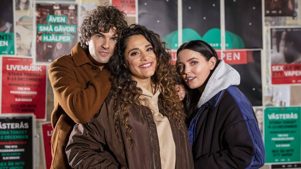 Daniel Hallberg, Farah Abadi och Miriam Bryant.