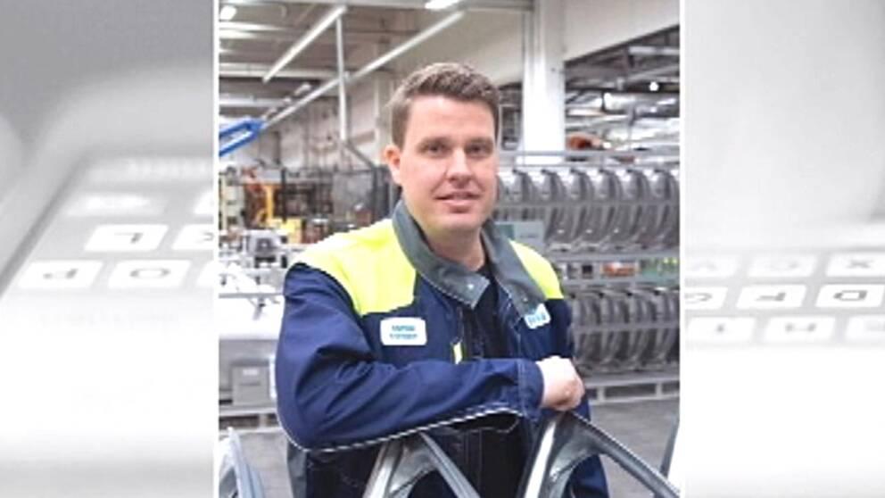 Stillbild på Mattias Ivansson.