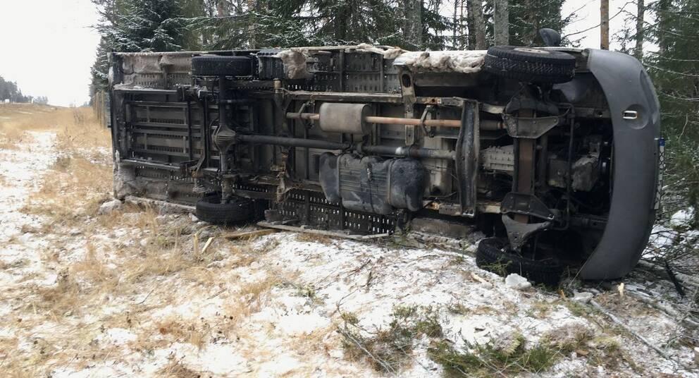 E4-olycka norr om Timrå.