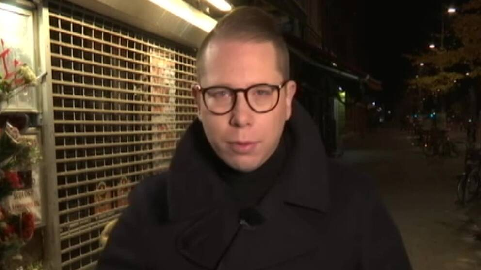 SVT:s reporter Mikael Nilsson