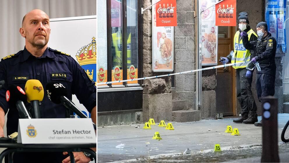"""Stefan Hector, operativ chef på NOA: """"Skjutningar och sprängningar i gängmiljöer ska reduceras avsevärt"""