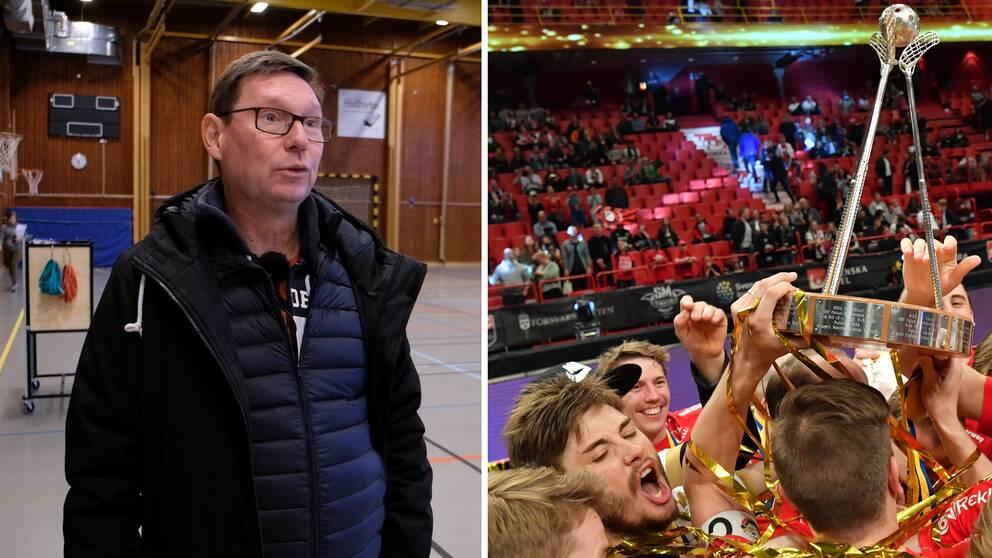 Stefan Forsman var med och bildade Storvreta. Han har även varit med och vunnit SM-guld i klubben som tränare för herrlaget.