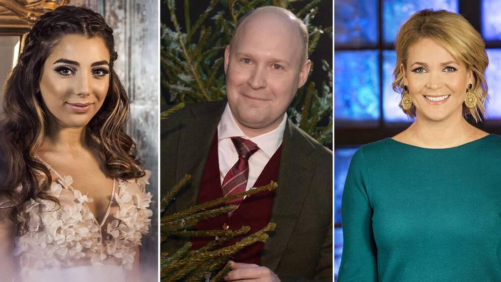 Gina Dirawi, Henrik Dorsin och Kattis Ahlström är några av de senaste årens julvärdar