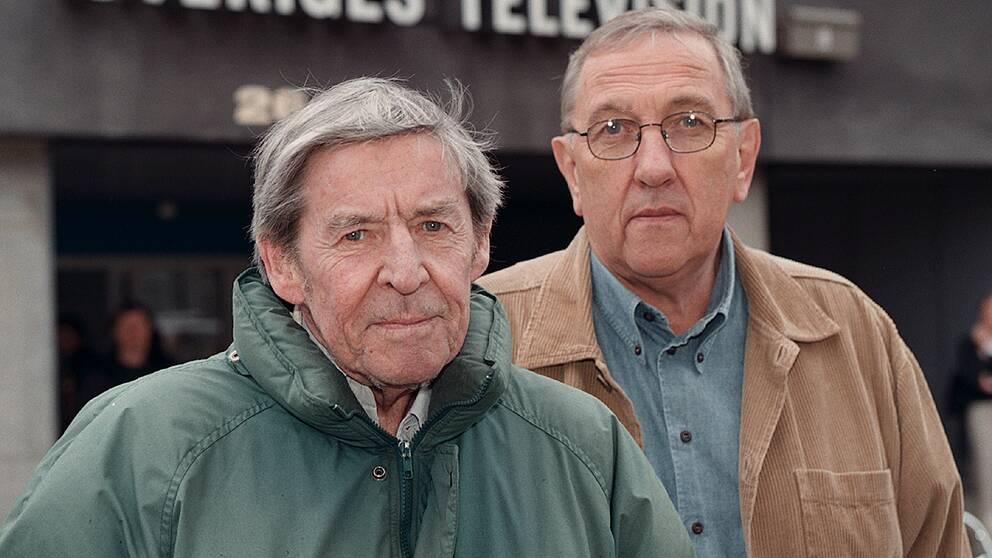 Hans Villius och Olle Häger. Tillsammans gjorde de mångade hyllade dokumentärer.