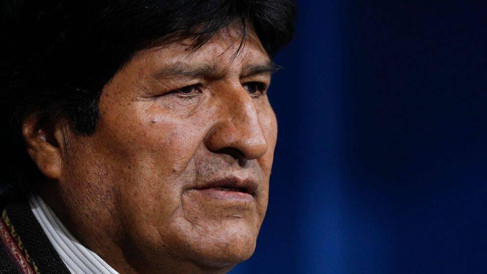 Bolivias före detta president Evo Morales. Han avgick från sin post söndagen den 10 november 2019 efter bland annat uppmaningar från militären och krav från oppositionen.