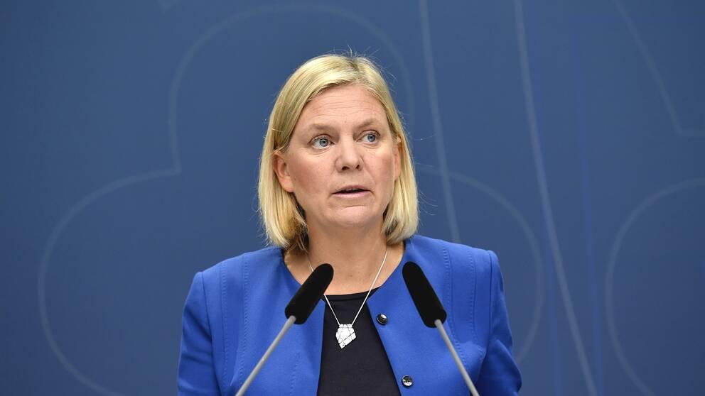 Sveriges finansminister Magdalena Andersson, Socialdemokraterna