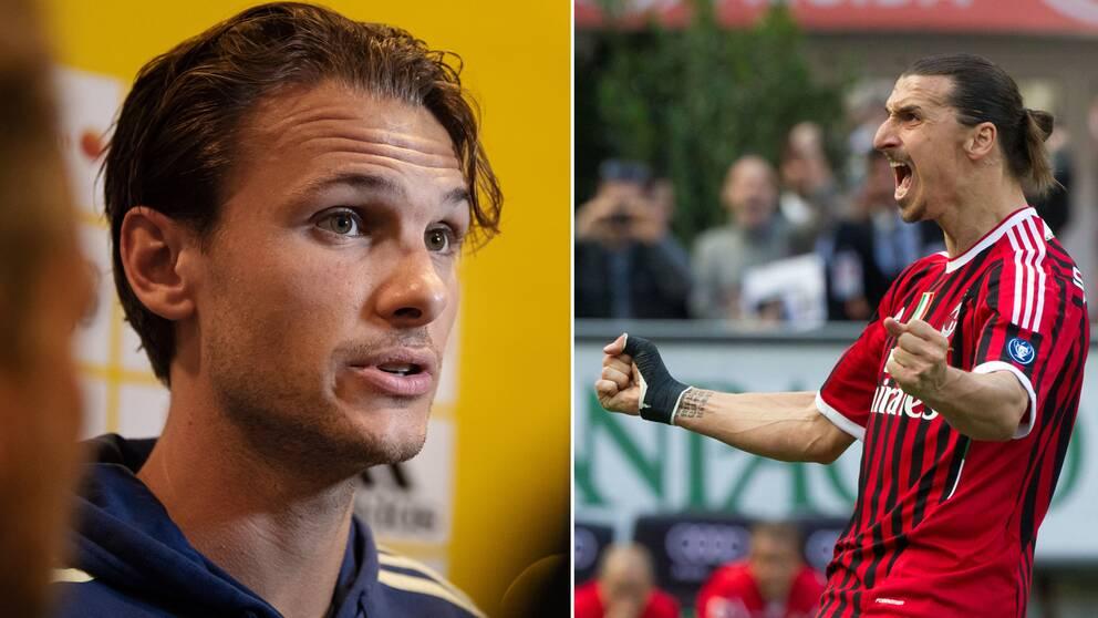 Albin Ekdal och Zlatan Ibrahimovic.