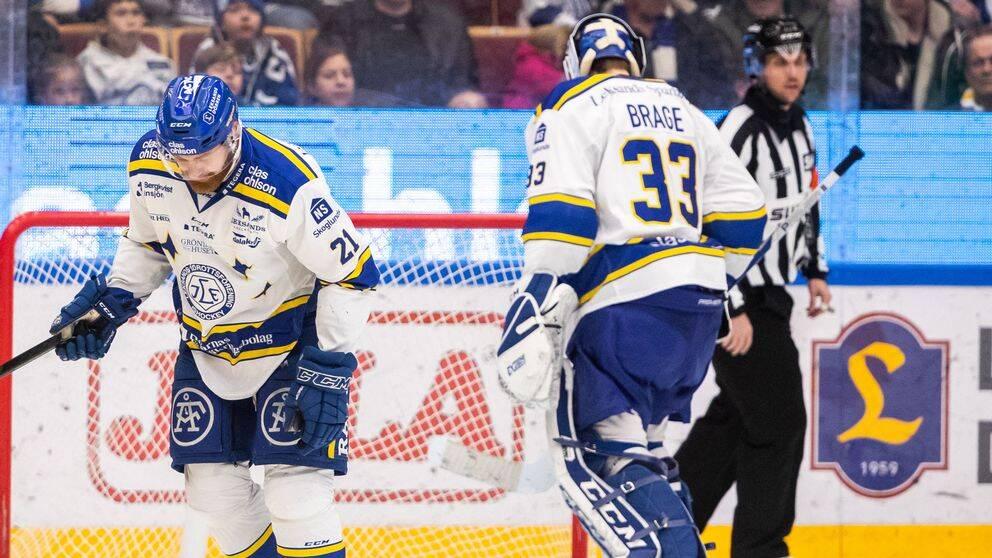 Leksands Mattias Ritola deppar efter 0-2 under ishockeymatchen i SHL mellan Leksand och HV71 den 16 november 2019 i Leksand.