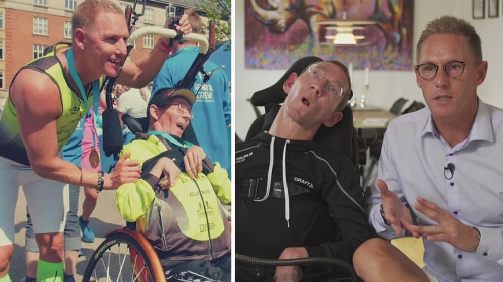 """Steen och Peder Mondrups sätt att idrotta tillsammans har spridit sig till fler – de har bildat åtta löparklubbar för andra """"teamtvillingar"""" som springer."""