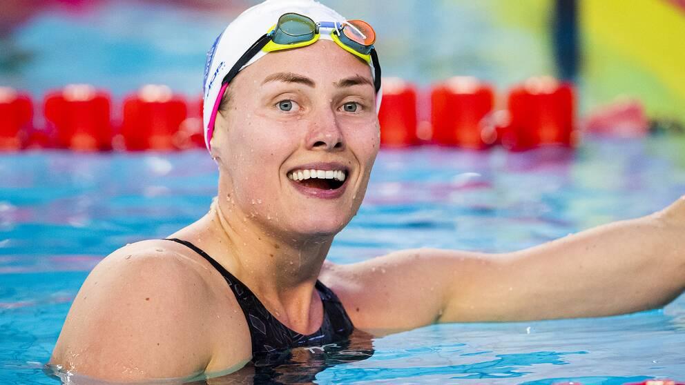 Michelle Coleman slog sitt fem år gamla personliga rekord på 100 meter fritt i kortbana.