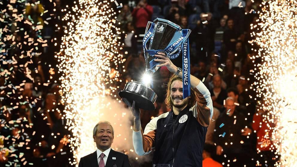 Stefano Tsitsipis vann ATP-slutspelet i London.