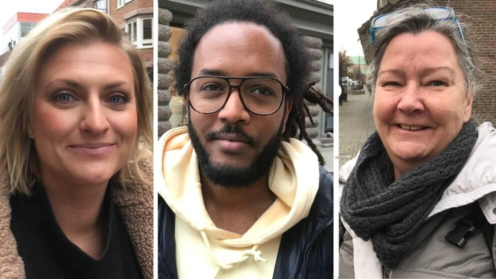 Johanna Andersson, Fnan Mikael och Lena David är alla invånare i Halmstad kommun.