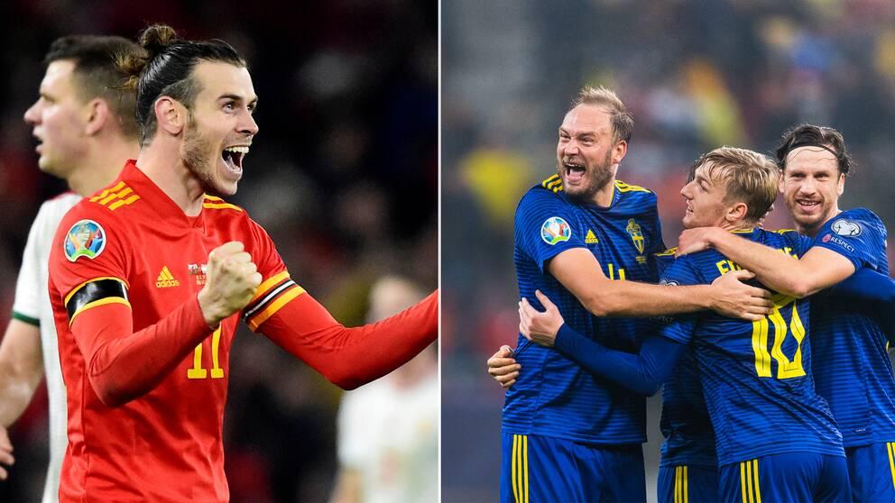 Wales och Sverige är båda klara för sommarens EM-slutspel.