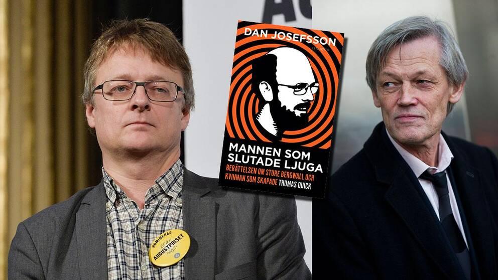 Journalisten och författaren Dan Josefsson och justitierådet Göran Lambertz.