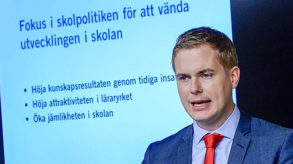Gustav Fridolin, utbildningsminister (MP)