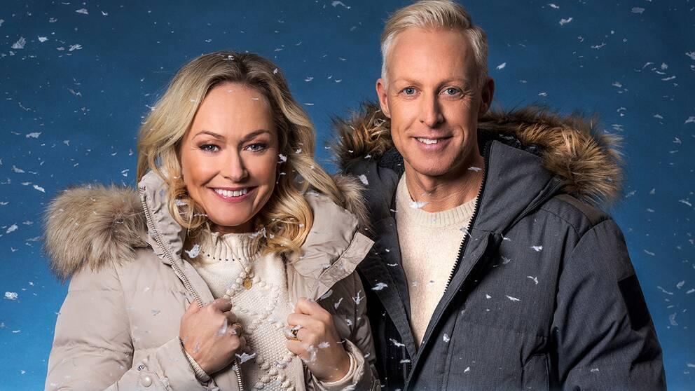 Yvette Hermundstad och André Pops i Vinterstudion