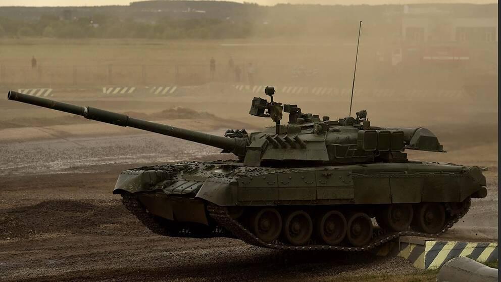 En rysk pansarvagn. Bilden är tagen vid en militär uppvisning i augusti 2014.
